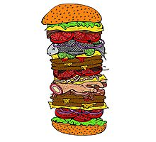 Ze Ultimate Burger Photographic Print