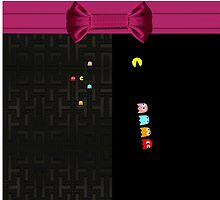 PAC MAN WITH PINK BOW by ALIANATOR