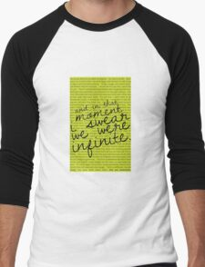 We Were Infinite - Quotes Men's Baseball ¾ T-Shirt