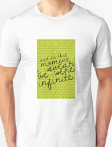We Were Infinite - Quotes T-Shirt