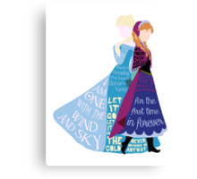 Elsa and Anna Canvas Print