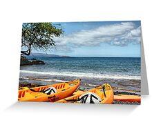 Makena Landing Kayaks Greeting Card
