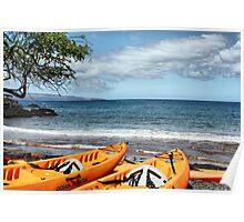 Makena Landing Kayaks Poster
