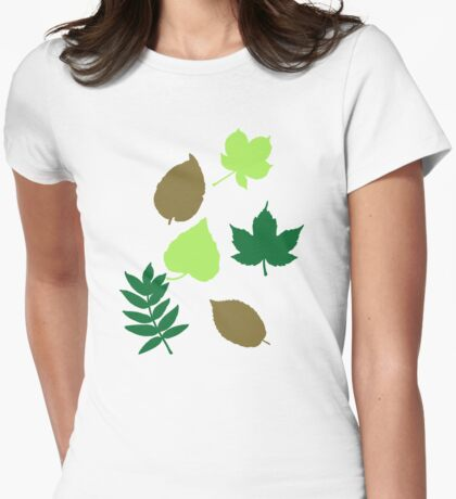 Leaves autumn Womens Fitted T-Shirt