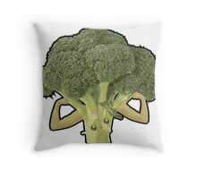 Broccoli Builder Throw Pillow