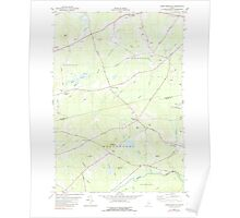 Maine USGS Historical Map Snow Mountain 460893 1982 24000 Poster