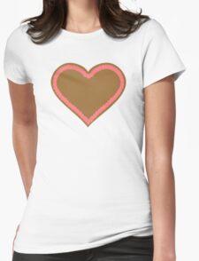 Oktoberfest lebkuchen heart Womens Fitted T-Shirt