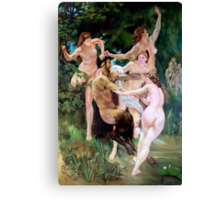 Nymphs and Satyr after W. Bouguereau  Canvas Print