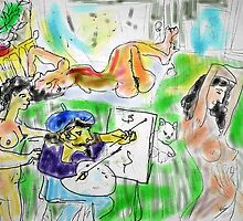 IN THE ARTISTS STUDIO(DIGITAL)(NOT FINISHED)(2004) by Paul Romanowski