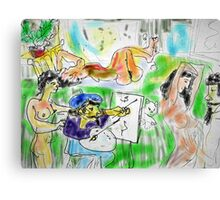 IN THE ARTISTS STUDIO(DIGITAL)(NOT FINISHED)(2004) Canvas Print