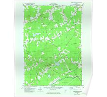 Maine USGS Historical Map Snow Mountain 807176 1982 24000 Poster