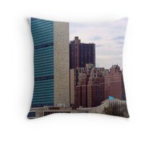 UN and Tudor City Throw Pillow