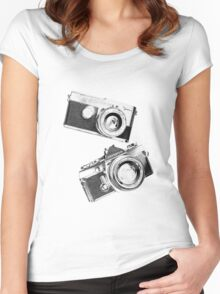 Olympus Pen/OM1 Women's Fitted Scoop T-Shirt
