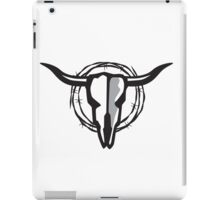 Cow Skull with Barbed Wire iPad Case/Skin