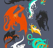 A Flight with Dragons by carbatine