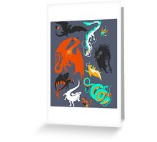 A Flight with Dragons Greeting Card