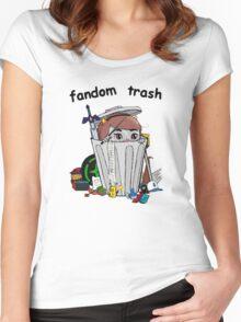 Fandom Trash Logo Women's Fitted Scoop T-Shirt