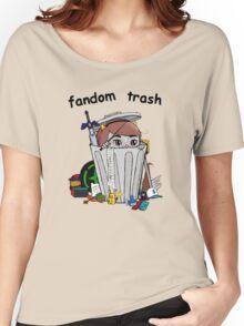 Fandom Trash Logo Women's Relaxed Fit T-Shirt