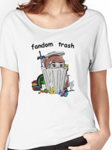 Fandom Trash Logo Women's Relaxed Fit T-Shirt
