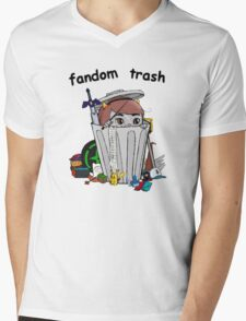 Fandom Trash Logo Mens V-Neck T-Shirt