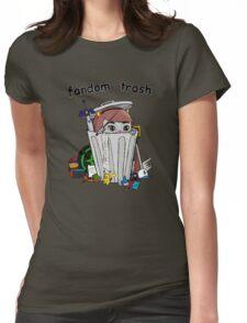 Fandom Trash Logo Womens Fitted T-Shirt