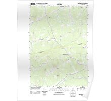 Maine USGS Historical Map Snow Mountain 20110909 TM Poster