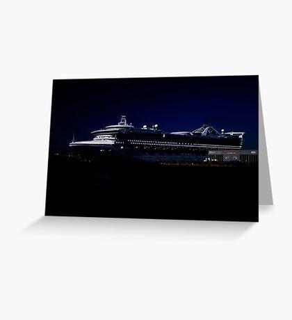 Star Princess at Night Greeting Card