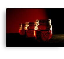 Three in red Canvas Print