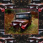 Dad's Jeep Pillow by Carolyn Clark