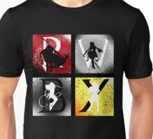 Team RWBY 4 Way Combo Characters Unisex T-Shirt