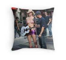 New York City Naked Cowgirl! Throw Pillow