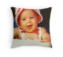 Strawberry Girl Throw Pillow