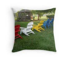 """""""Chairs"""" Throw Pillow"""