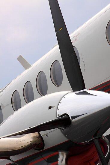 Beechcraft Kingair 200 Right Engine by Marc Payne Photography