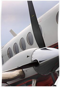 Beechcraft Kingair 200 Right Engine by Marc Payne Photography