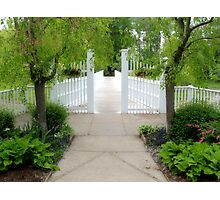 Spring Garden Gate Photographic Print