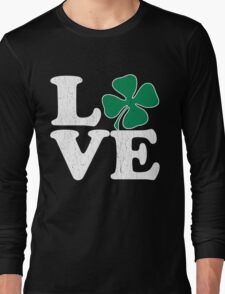 Cute! Love St. Patty's Day (vintage distressed look) Long Sleeve T-Shirt