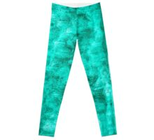 Teal  Abstract Leggings