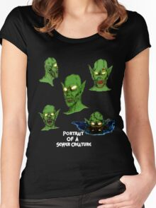 Portrait Of A Sewer Creature Women's Fitted Scoop T-Shirt