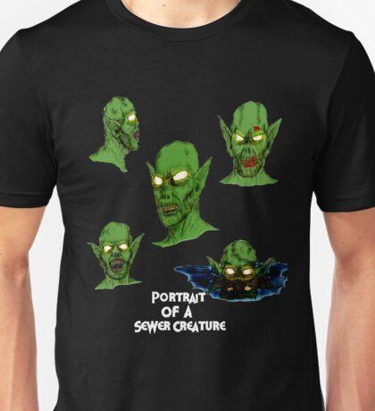 Portrait Of A Sewer Creature Unisex T-Shirt