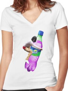 dirty sprite chief keef Women's Fitted V-Neck T-Shirt