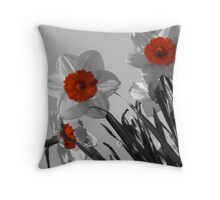 Curious Daffodils Throw Pillow