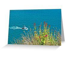 On The Edge, Devon, England Greeting Card