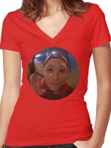 The Reverse Peephole Women's Fitted V-Neck T-Shirt