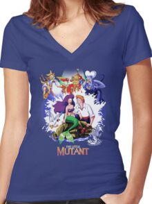 The Little Mutant Women's Fitted V-Neck T-Shirt