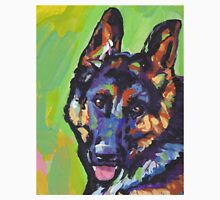 German Shepherd Bright colorful pop dog art Unisex T-Shirt