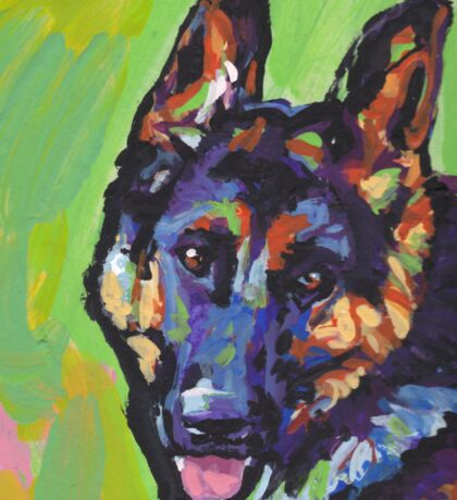 German Shepherd Bright colorful pop dog art Sticker