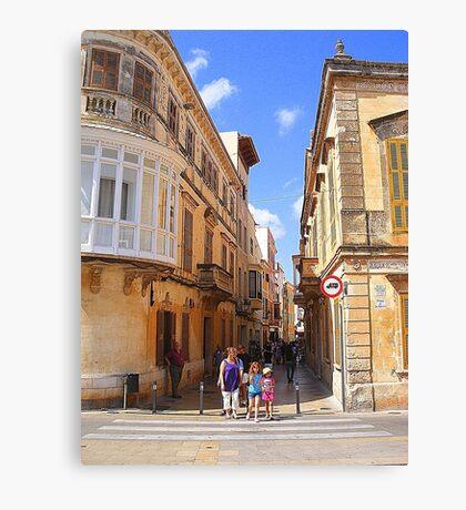 A Ciutadella Crossing................................Menorca Canvas Print