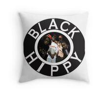 Black Hippy Throw Pillow