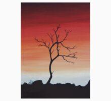 Sunset Silhouette One Piece - Short Sleeve